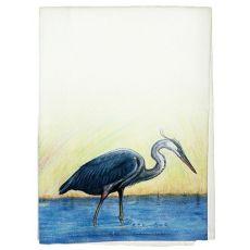 Great Blue Heron Guest Towel