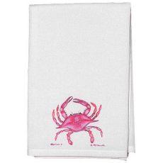 Pink Crab Guest Towel