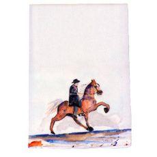 Brown Walking Horse Guest Towel