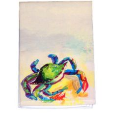 Teal Crab Guest Towel
