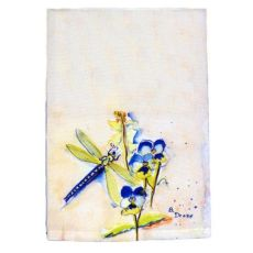 Blue Dragonfly Guest Towel