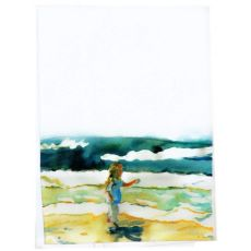 Girl At Beach Guest Towel