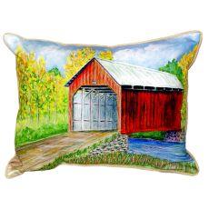 Dick'S Covered Bridge Large Indoor/Outdoor Pillow 16X20