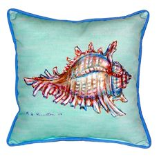 Conch - Teal Large Indoor/Outdoor Pillow 18X18