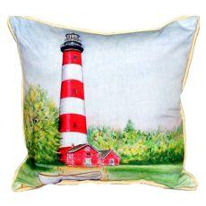 Chincoteague Lighthouse Va Large Indoor/Outdoor Pillow 18X18