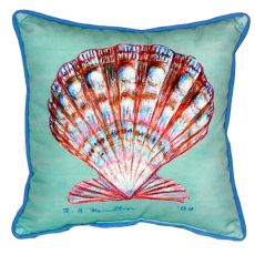 Scallop Shell - Teal Large Indoor/Outdoor Pillow 18X18
