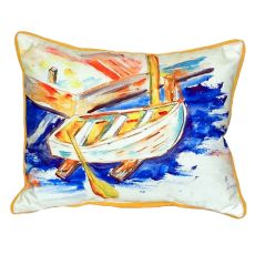 Betsy'S Row Boat Large Indoor/Outdoor Pillow 16X20