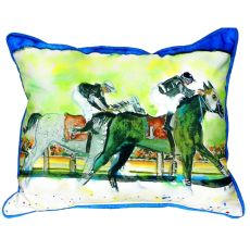 Close Race Large Indoor/Outdoor Pillow 16X20