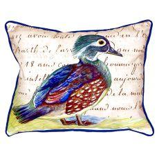 Female Wood Duck Script Large Indoor/Outdoor Pillow 16X20