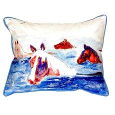 Chincoteague Ponies Indoor/Outdoor Pillow 16X20