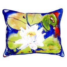 Lily Pad Flower Large Indoor/Outdoor Pillow 16X20
