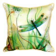 Betsy'S Dragonfly Large Indoor/Outdoor Pillow 18X18