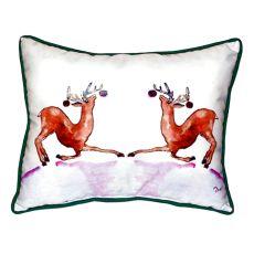 Dancing Deer Large Indoor/Outdoor Pillow 16X20
