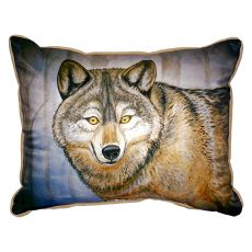 Grey Wolf Large Indoor/Outdoor Pillow 16X20