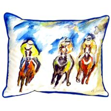 Three Racing Large Indoor/Outdoor Pillow 16X20