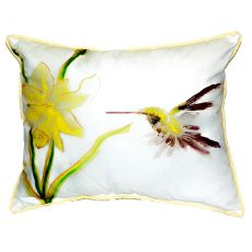 Yellow Hummingbird Large Indoor/Outdoor Pillow 16X20