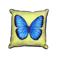 Dick'S Blue Morpho Large Indoor/Outdoor Pillow 18X18