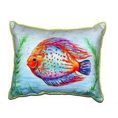 Orange Fish Large Indoor/Outdoor Pillow 16X20
