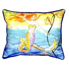 Diving Mermaid Large Indoor/Outdoor Pillow 16X20