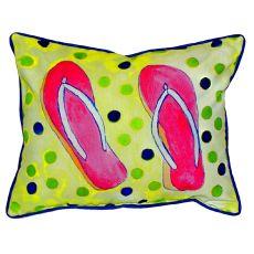 Flip Flops Large Indoor/Outdoor Pillow 16X20