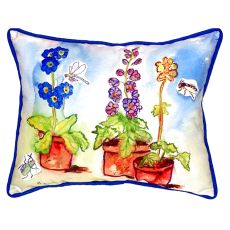 Potted Flowers Large Indoor/Outdoor Pillow 16X20