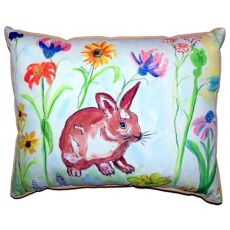 Whiskers Bunny Large Indoor/Outdoor Pillow 16X20