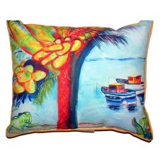 Cocoa Nuts & Boats Large Indoor/Outdoor Pillow 18X18