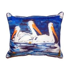 Three Pelicans Large Indoor/Outdoor Pillow 16X20