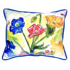 Bugs & Poppies Large Indoor/Outdoor Pillow 16X20
