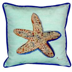 Starfish - Teal Large Indoor/Outdoor Pillow 18X18