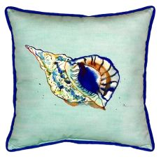 Betsy'S Shell - Teal Large Indoor/Outdoor Pillow 18X18