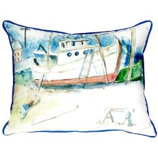 Old Boat Large Indoor/Outdoor Pillow 16X20
