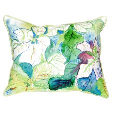 White Poinsettia Large Indoor/Outdoor Pillow 16X20