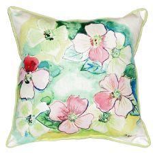 Flower Wreath Large Indoor/Outdoor Pillow 18X18