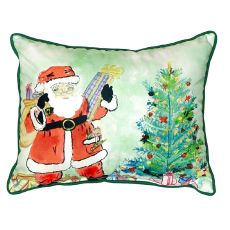 Santa & Tree Large Indoor/Outdoor Pillow 16X20