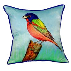 Painted Bunting Large Indoor/Outdoor Pillow 18X18