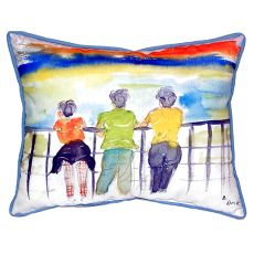Ladies Looking Large Indoor/Outdoor Pillow 16X20