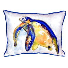 Blue Sea Turtle - Left Large Indoor/Outdoor Pillow 16X20
