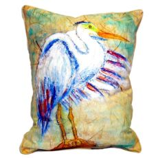 Egret On Rice Large Indoor/Outdoor Pillow 16X20