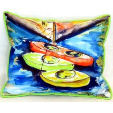 Kayaks Large Indoor/Outdoor Pillow 16X20