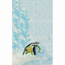Blue Sea Turtle Kitchen Towel