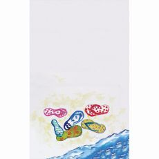 Six Flip Flops Kitchen Towel