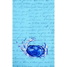 Blue Script Crab Kitchen Towel