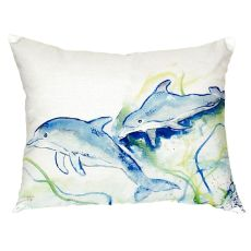 Betsy'S Dolphins No Cord Pillow 16X20