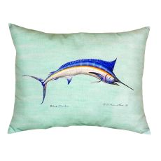 Blue Marlin - Teal No Cord Pillow 16X20