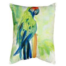 Green Parrot No Cord Pillow 16X20