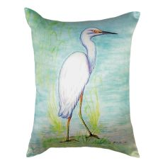 Snowy Egret No Cord Pillow 16X20