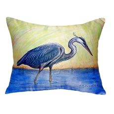 Blue Heron No Cord Pillow 16X20