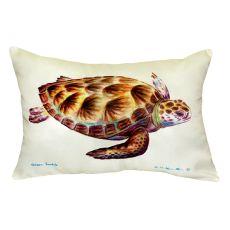 Green Sea Turtle No Cord Pillow 16X20