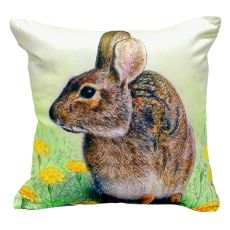 Rabbit No Cord Pillow 18X18